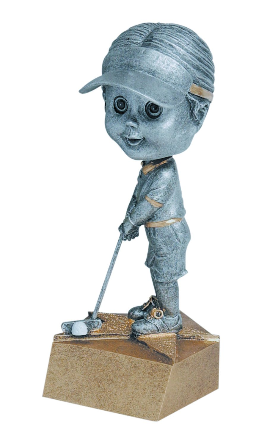 Female Golfer Bobblehead Trophy - Womens Golf Bobble Head Award - Engraved Plate Upon Request - Decade Awards