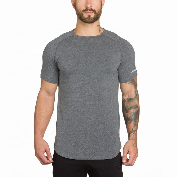 Fitness Blank Cool Dry Shaping Side Cut Men Sports Gym T Shirt