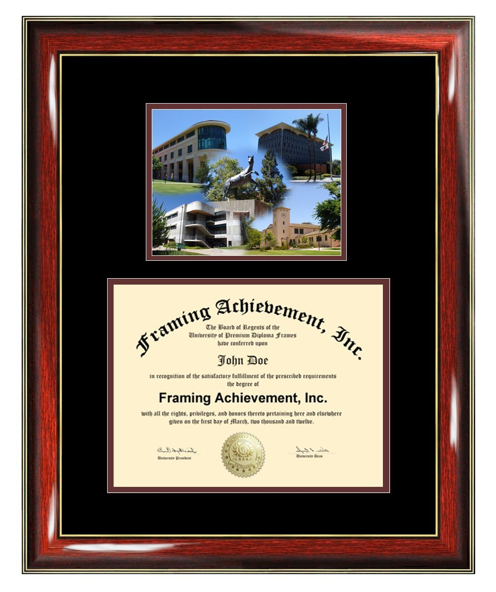 Cal Poly San Luis Obispo Diploma Frame - California Polytechnic State University Graduation Degree Frame Campus College Photo Certificate University Framing Graduate Gift