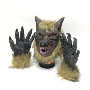 Factory Spot Halloween Horror Devil Fancy Dress Party Props Mask Full Head Wolf Head Cover