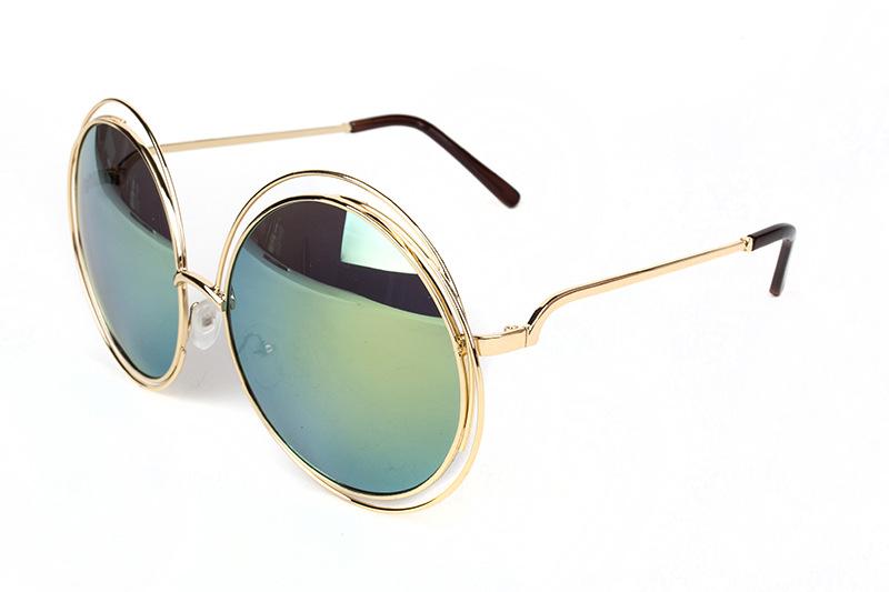 e5de407a0fc5 New big circle round frame sunglasses size bicyclic female face ...