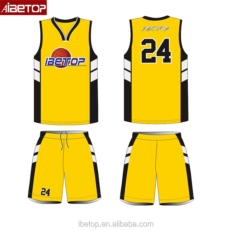 Latest Sublimated Custom Sample Reversible Basketball Uniform Jersey