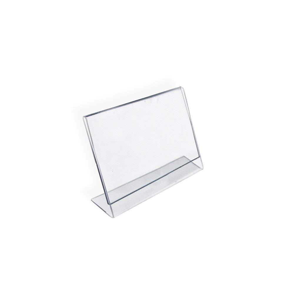 6 Pack of 4x6 inches Landscape Premium Acrylic Picture Frames Sign Holders Ad Frame Slanted Sign Holders