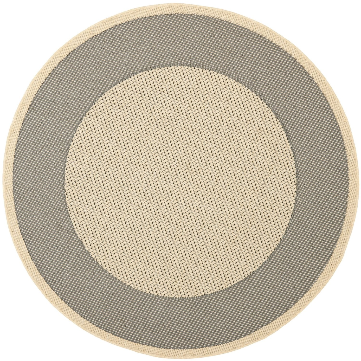 """Safavieh Courtyard Collection CY7987-65A5 Grey and Cream Indoor/ Outdoor Round Area Rug (7'10"""" Diameter)"""