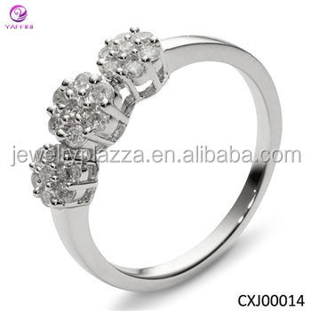 Newest Design Funny Silver Engagement Rings,Gold Plated Couple ...
