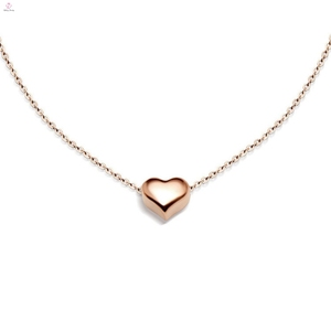 Promotional Gift 10 To 15 Grams 18K 14K Pendant Charm Rose Gold Necklace For Women Girl Jewelry