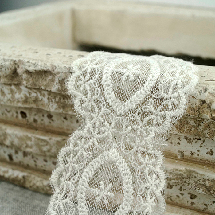 Popular Style Embroidered Organza Tulle Lace Trim