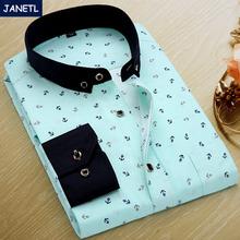 2014 Autumn Flower Print Men Shirt Long-sleeve Shirt Slim Fit Casual Shirts Fashion Men's Clothing Camisa Masculina Plus Size