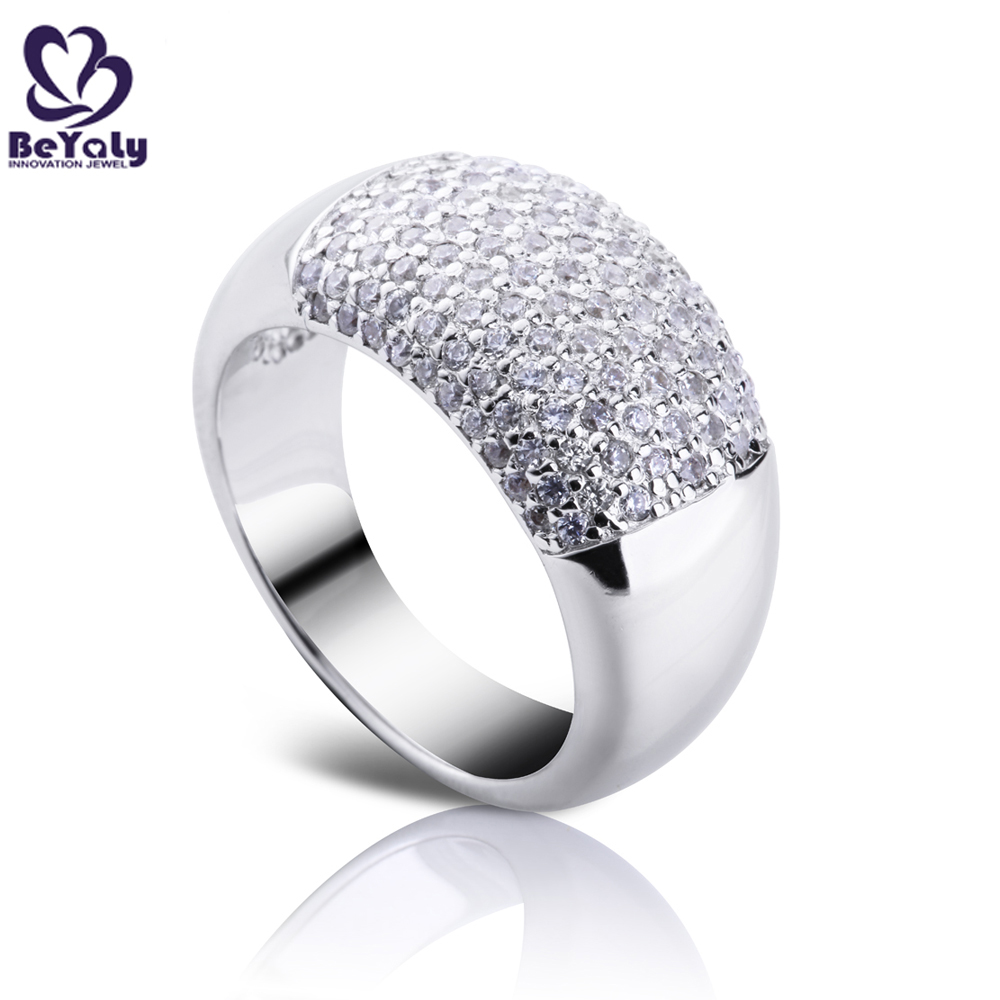 Fashion silver cz new design ladies finger ring, gay men ring