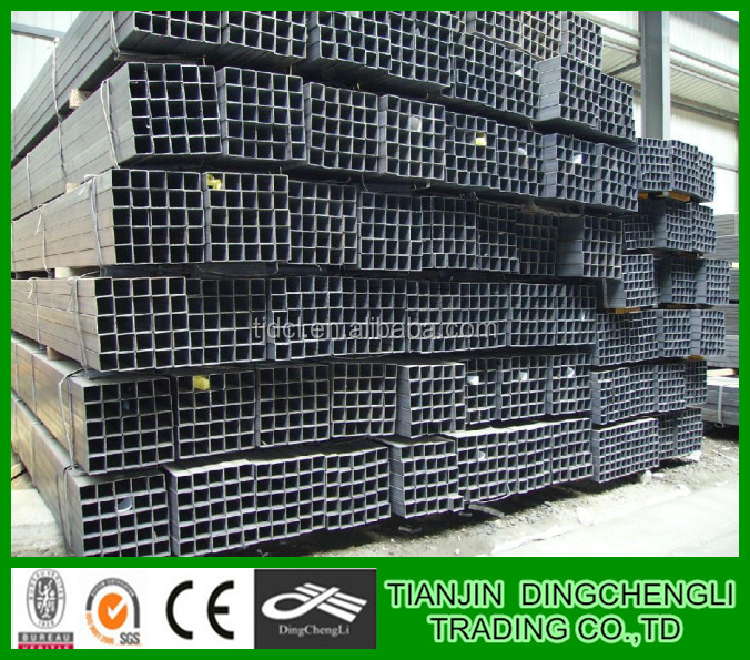 Q235 WELDED HOT DIP GALVANIZED SQUARE TUBE/PIPE/machine to make square tube/square steel