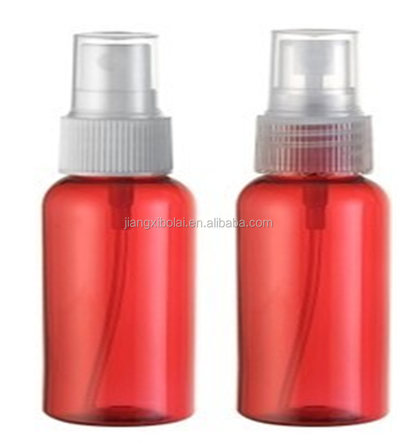 PET Colorfull Amber 50ml Cosmetic Packaging Spray Bottle