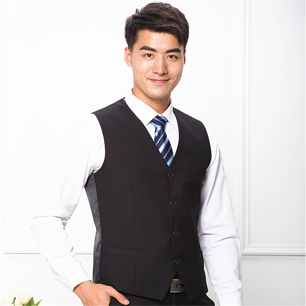 2019 new style navy twill TR fabric business waistcoat mens vest wholesale