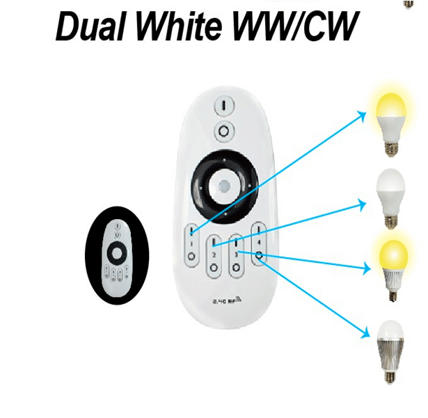 4pcs 2.4Ghz RF LED WW/WC <strong>Bulb</strong> 6W + one piece of WW/CW remote