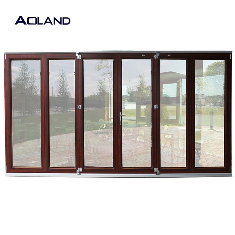 Customize bi fold doors windows for bathroom with blinds