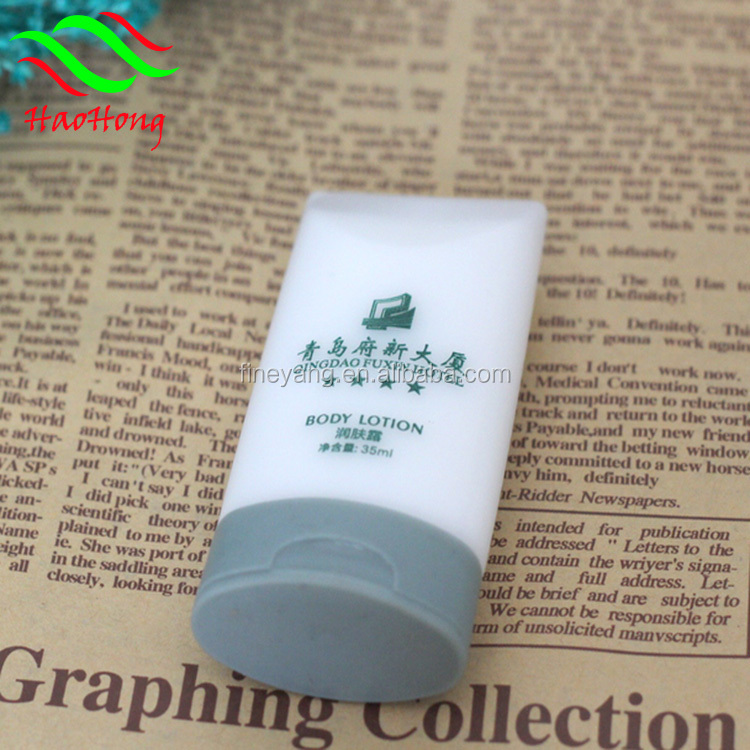 Cheap high quality general shape 34ml small plastic hotel shampoo bottles