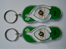 Acrylic shoes key chain customized Animation cartoon key chain promotion gift mobile phone pendant key ring accesories