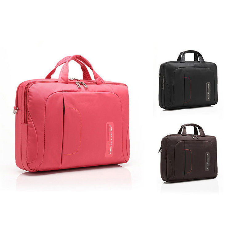 Anti Shock Proof Women Messenger Bags in Pink, 15.6 inch fashion laptop case for travel and trolley, Protective Pink Laptop Bag