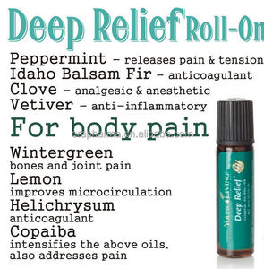 Pain relief roll on natural compound essential oil
