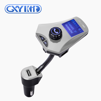 GXYKIT M7 2 usb charger car handsfree kit car FM modulator mp3 usb player