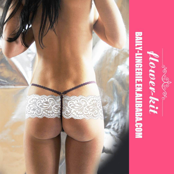 Ladies Sexy White G-string Tong Women Lace Panties Underwear Wholesale