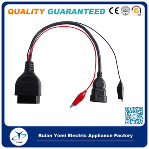 Wholesale for fiat connector for Fiat 3PIN to OBD2 16PIN connector , 3 PIN diagnostic cable
