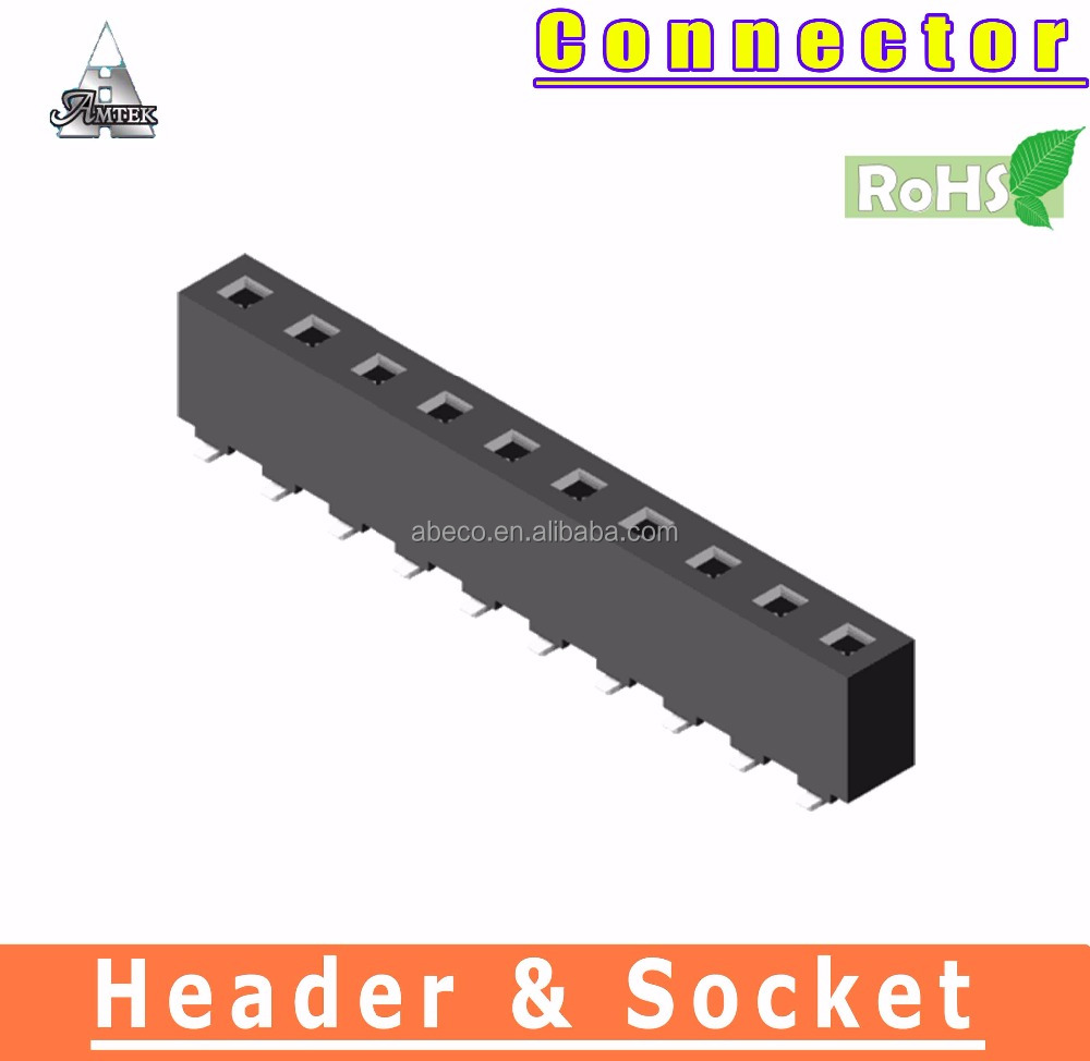 rohs compliant electrical connectors 5.08mm SMT female header