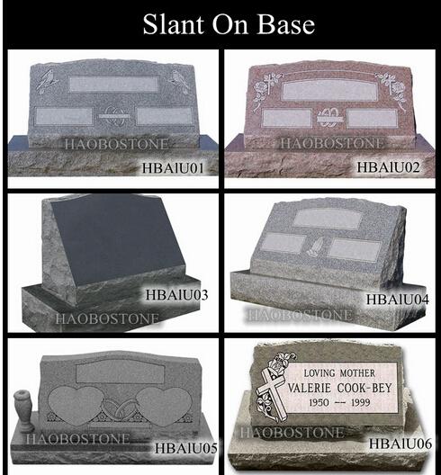 Cemetery Decorations Granite Single Slant Grave Marker