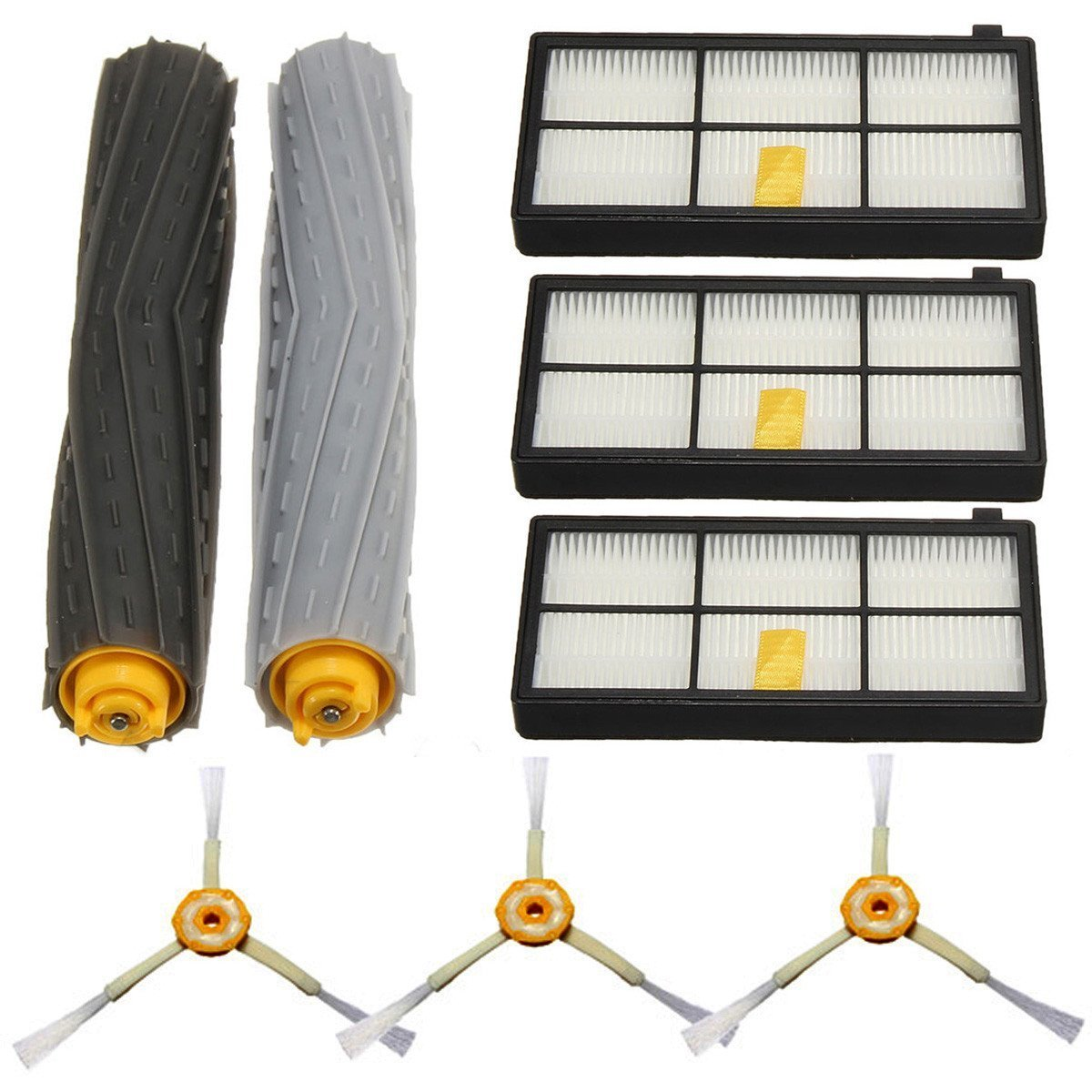 8Pcs Filters Brush Pack Replacement Kit For iRobot Roomba 800 Series 800 870 880 / . 8Pcs Filters Brush Pack Replacement Kit For iRobot Roomba 800 Series 800 870 880 . . Keep your iRobot Room