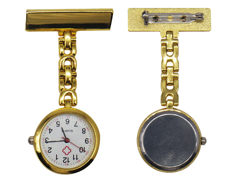 Nurse pocket Fob watch gold silver pocket doctor hospital watch clock nurse watch