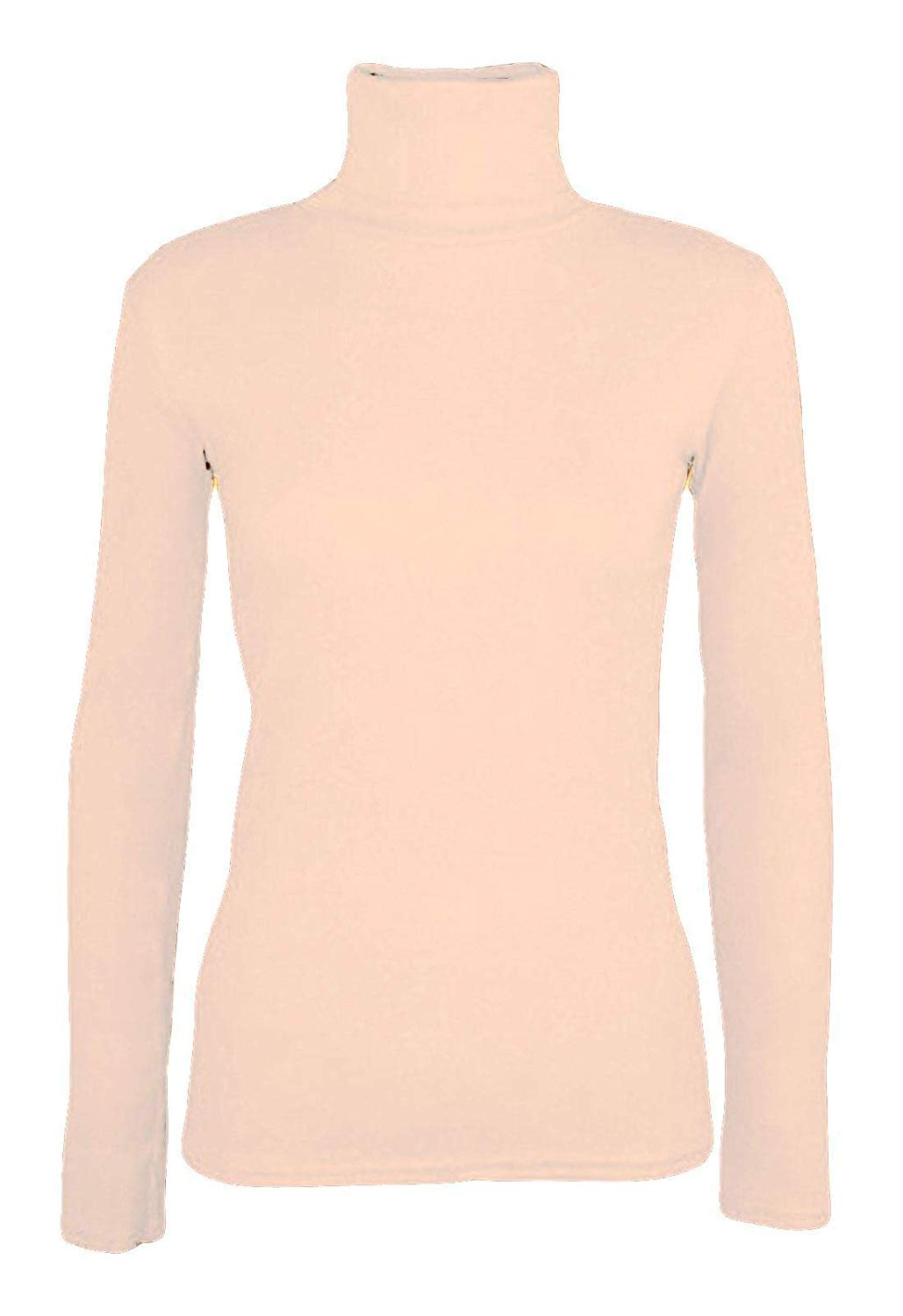 ede40a3630 Ladies Turtle Neck Casual Stretchable Jumper Womens Plain Novelty Jumper Top
