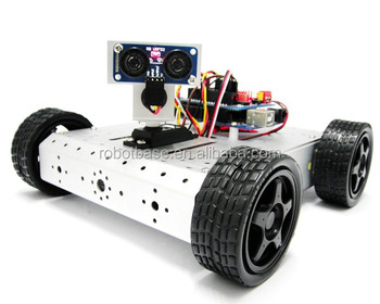 4WD Mobile Robot Kit with Detection and Avoidance System