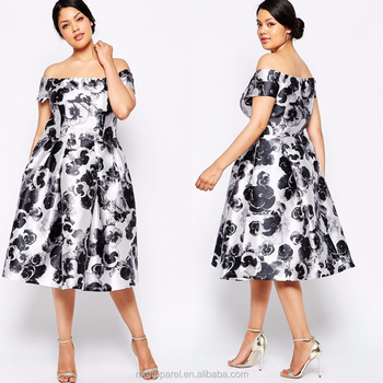 Hot Selling Plus Size Women Clothing,Women Party Wear Off Shoulder Print  Plus Size Dress - Buy Plus Size Dress,Plus Size Women Clothing,Print  Dresses ...