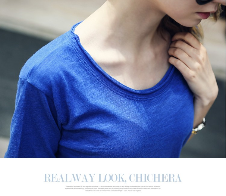 Hot selling high quality sexy women t shirt loose casual blank plain t shirt