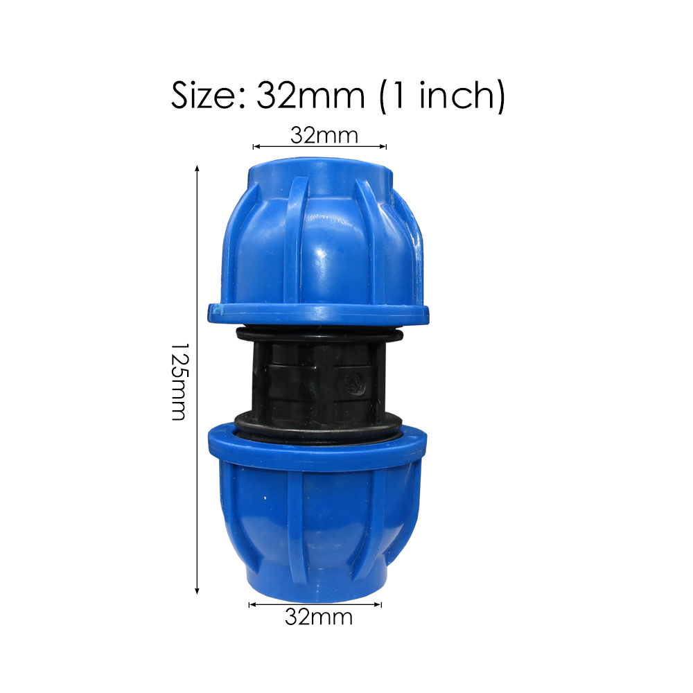 20 25 32 40 50 60 MM HDPE Compressie Coupler Tuin Water Connector PP Draad Irrigatie Pijp Quick Connector Fittings