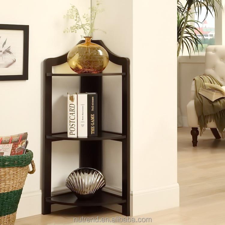 simple de madera estante de la esquina barato con capa bastidores