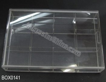 Promotion 12 Grid Clear Plastic Box storage Jewelry Beads Container