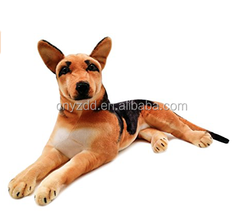 Realistic German Shepherd 3 Foot Without Tail Big Stuffed Animal