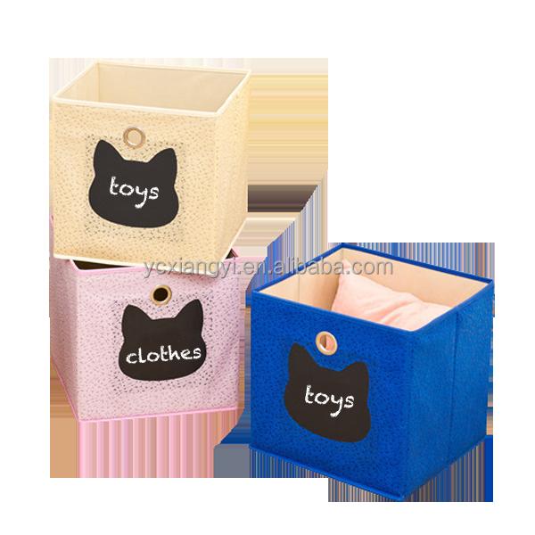 nouvelle annonce enfants bac de rangement bo te cube avec tableau noir bo tes caisses de. Black Bedroom Furniture Sets. Home Design Ideas