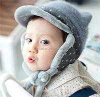 Wholesale factory custom 2015 new fashion animal ear baby kids ear flap winter hat