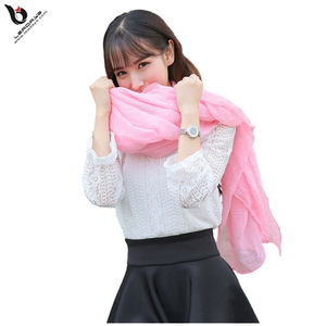 latest winter pink fashionable lady voile scarf