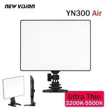 YONGNUO YN300 Air Ultra Thin On Camera Led Video Light Pad Panel for Canon Nikon Sony Panasonic DSLR  Camcorder