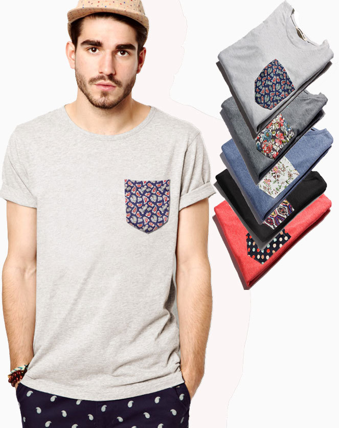 Custom men 39 s fashion style t shirts with modern tribal for Custom t shirts with pockets