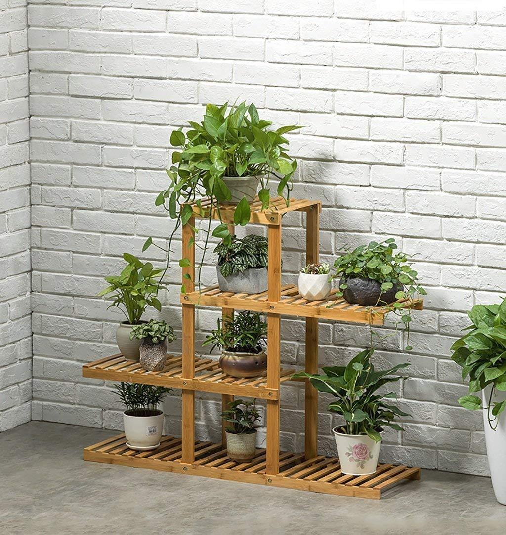 4 Tier Flower Racks Plant Shelf Wooden