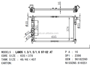 Daewoo Lanos Radiator, Daewoo Lanos Radiator Suppliers and ... on