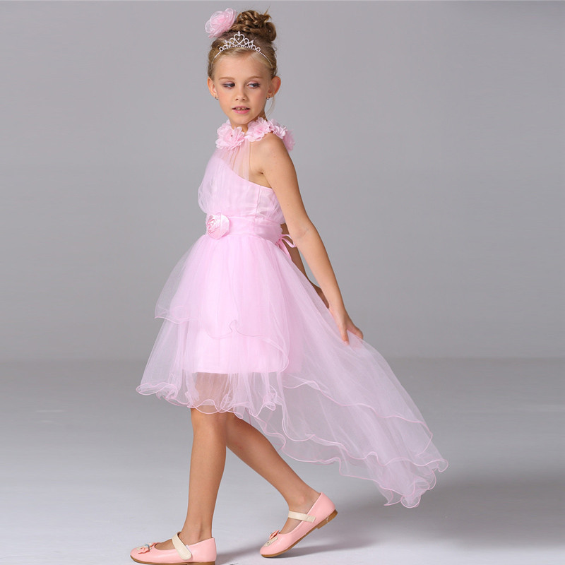 Free Dhl Kids Fashion Wedding Dresses A-line Long Train Girls Party ...