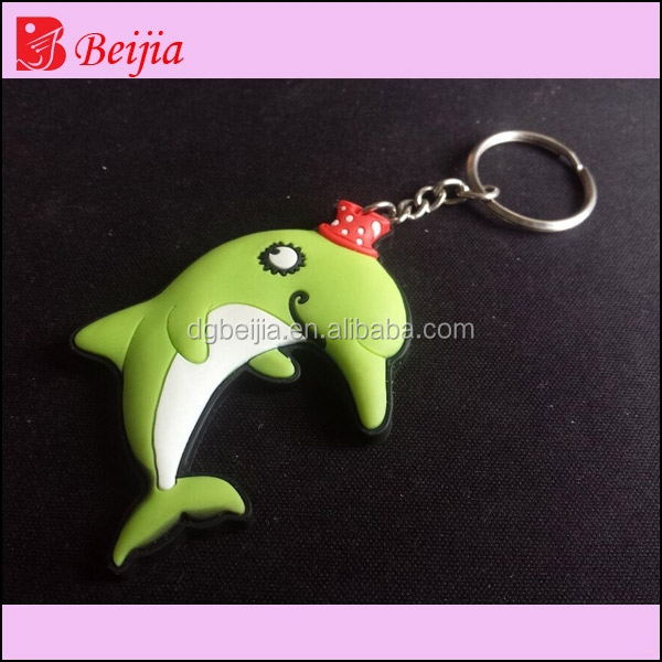 customized pvc sea animals keychain BJ-K024