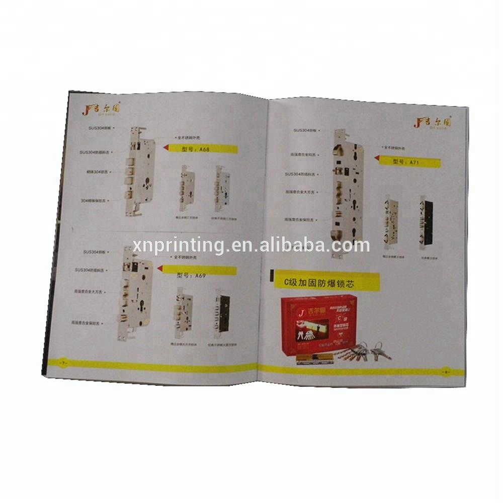 company menu booklet printing glue binding