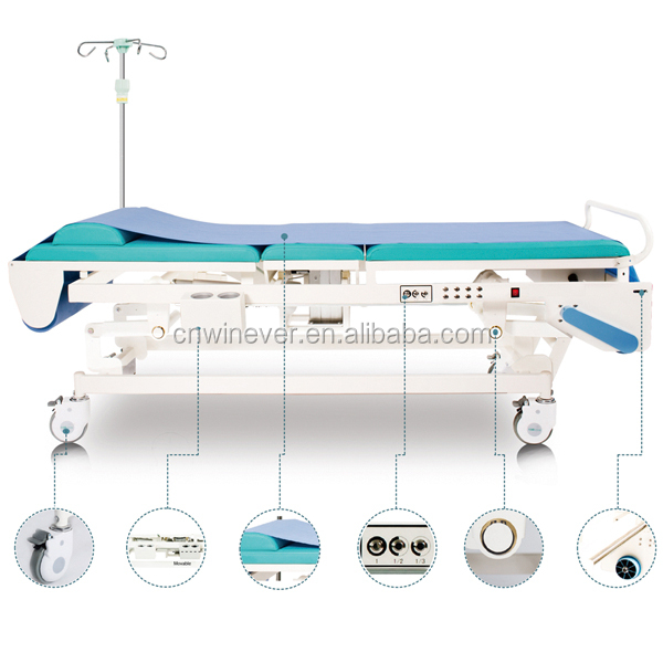 Electric Ultrasound Table Performing General Ultrasound Procedures