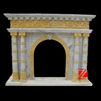 stone surround marble fireplace mantel