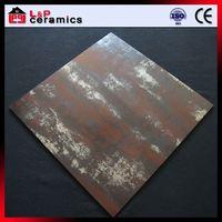 Red rust rustic vitrified ceramic floor tiles
